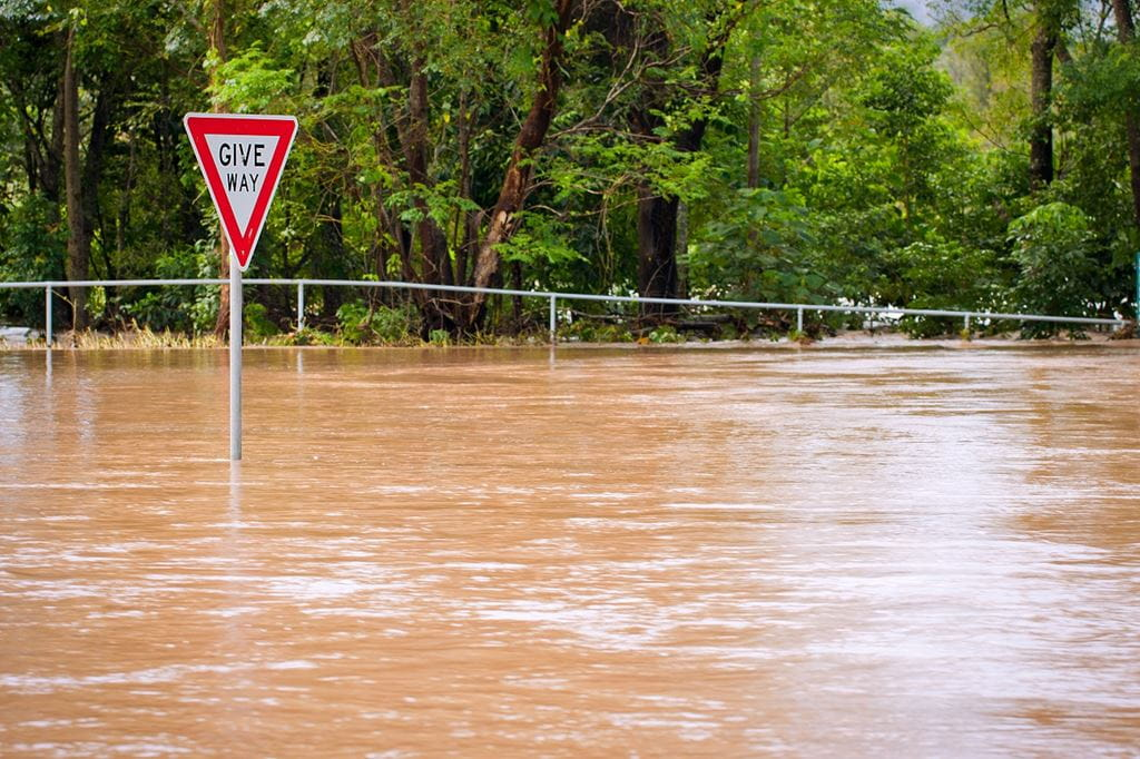 Image of a flooded road